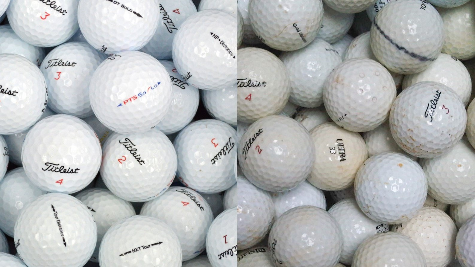 Grade A vs Grade C Lake Balls