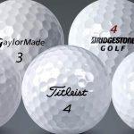 Premium Single Golf Balls on a grey background