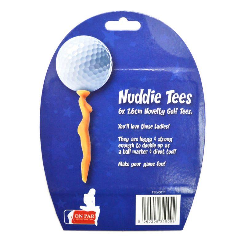 On Par Nuddie Tees Back Packaging