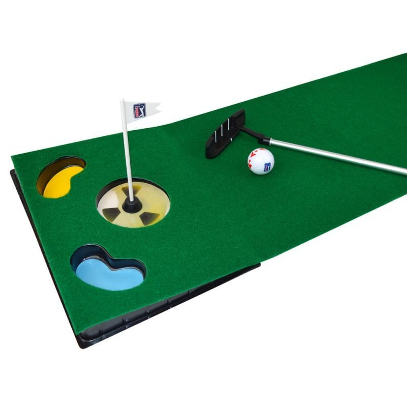 6ft Putting Mat with Collapsible Putter