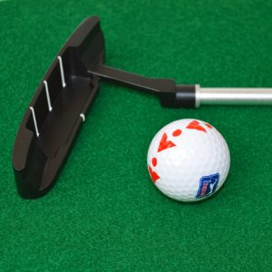 6ft Putting Mat with Collapsible Putter Golf Ball