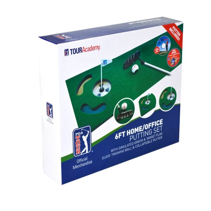 6ft Putting Mat with Collapsible Putter Packaging
