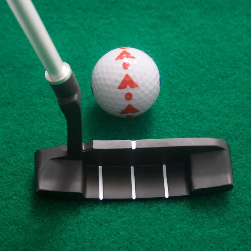 6ft Putting Mat with Collapsible Putter Putter