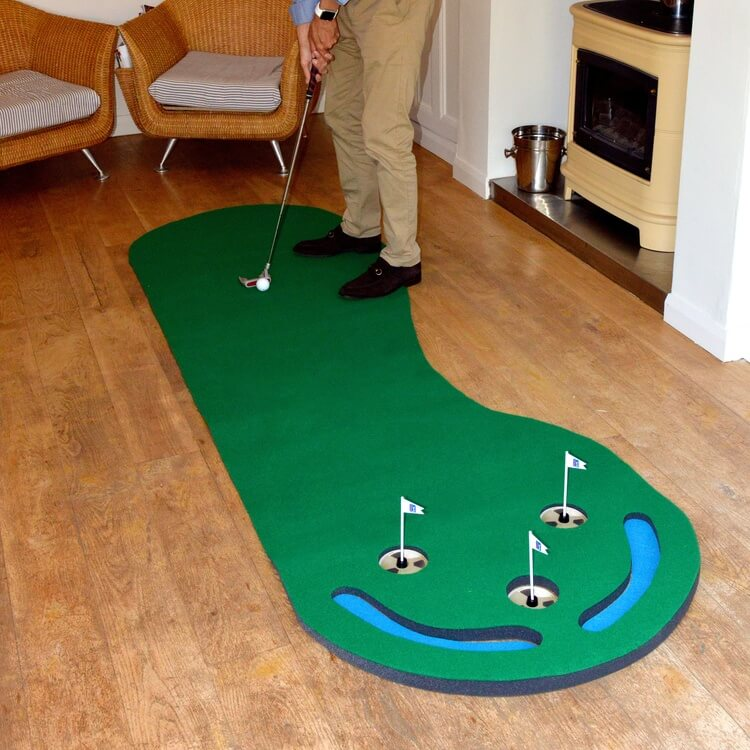 PGA Tour Three Hole Putting Mat 3 x 9 Feet Back