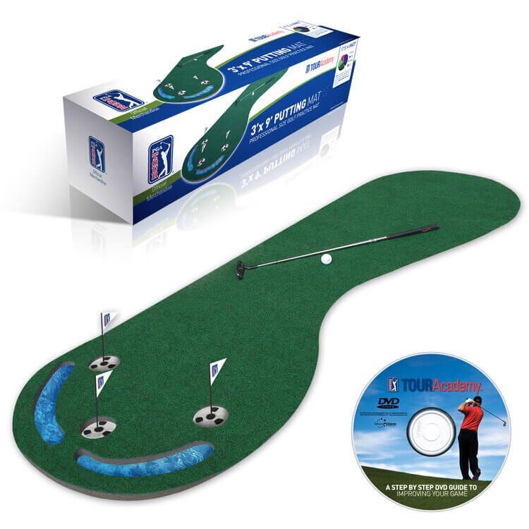 PGA Tour Three Hole Putting Mat 3 x 9 Feet