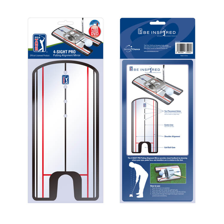 PGA TOUR 4-Sight Golf Putting Mirror Packaging