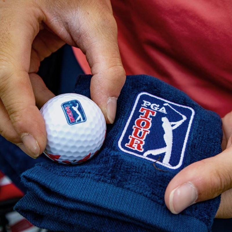 PGA TOUR Golf Towel Alex ElliottClose Up