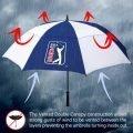 PGA TOUR Golf Umbrella Windproof Double Canopy