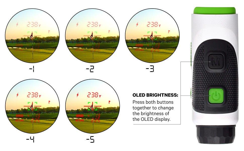 Change the brightness levels of the Easygreen OLED Pro Rangefinder