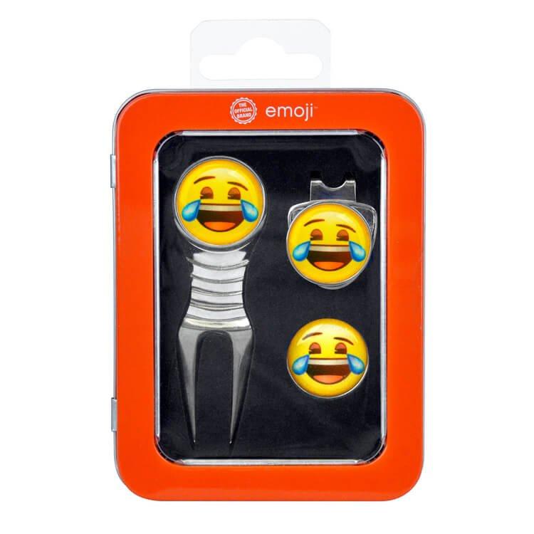 Emoji Laughing Divot Tool & Marker Box