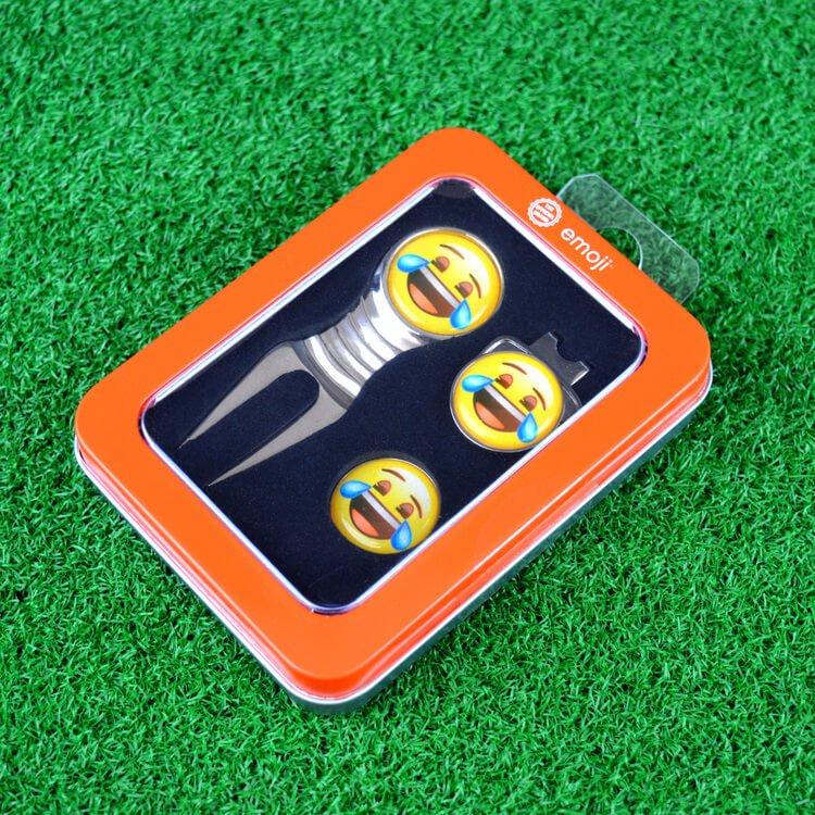 Emoji Laughing Divot Tool & Marker Lifestyle