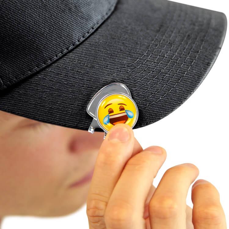 Emoji Laughing Hat Clip Marker