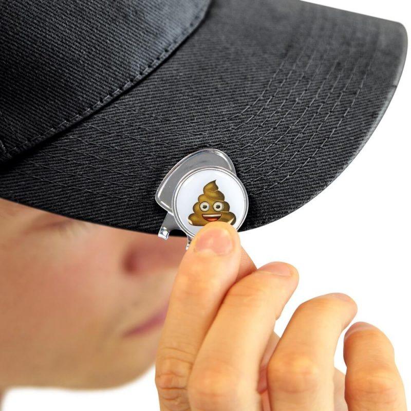 Emoji Poop Divot Tool Golf Set Hat Clip