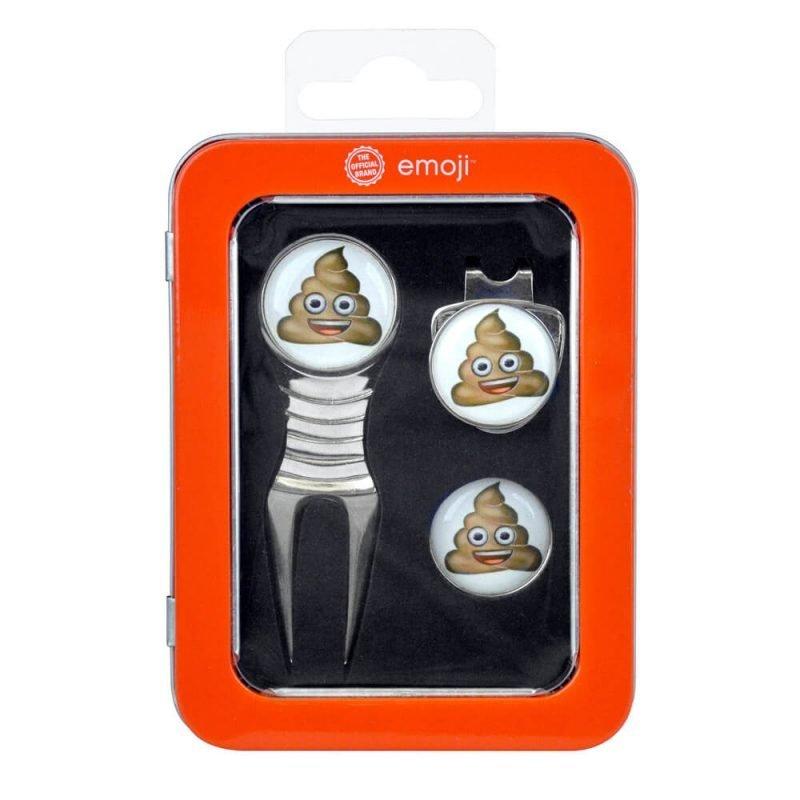 Emoji Poop Divot Tool Golf Set Packaging