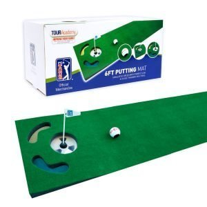 PGA Tour 6ft Putting Mat with Guide Ball and Ball Alignment Tool