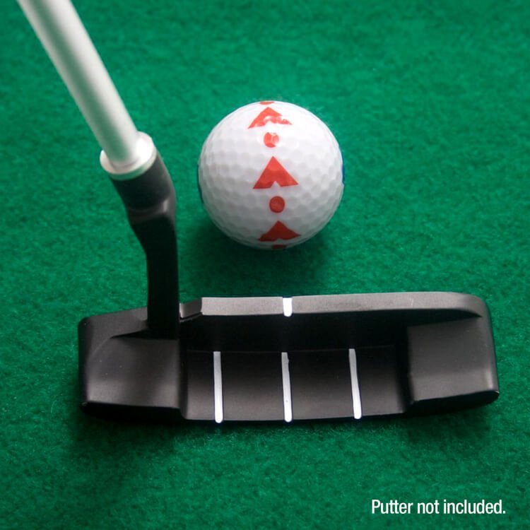 PGA Tour 6ft Putting Mat with Guide Ball and Ball Alignment Tool Close Up