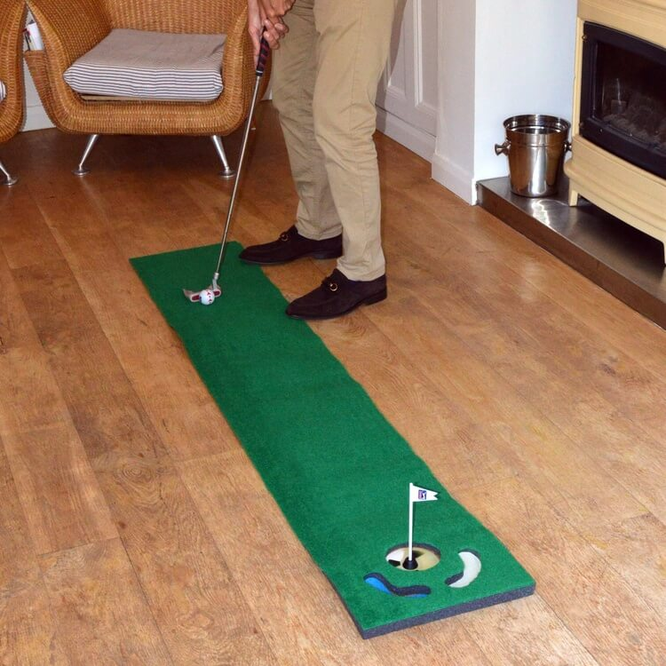 PGA Tour 6ft Putting Mat with Guide Ball and Ball Alignment Tool Lifestyle