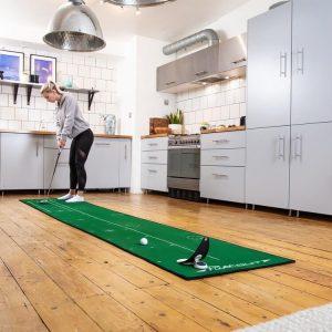 PuttOUT Large Pro Putting Mat Green Golfer Female