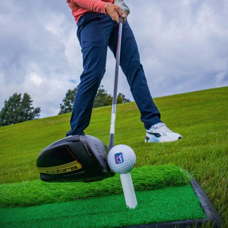 PGA TOUR 2 in 1 Golf Hitting Mat Alex Elliott Strike
