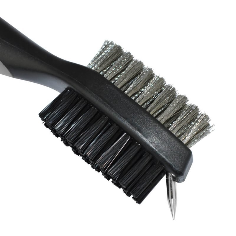 PGA Deluxe Dual Sided Golf Club Brush and Groove Cleaner Close Up