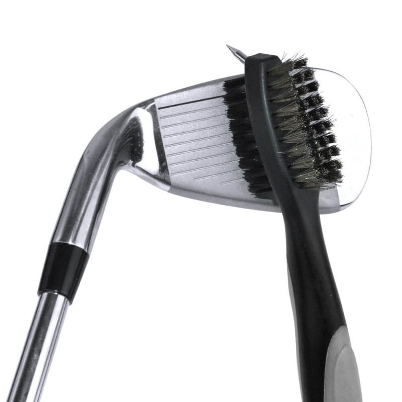 PGA Deluxe Dual Sided Golf Club Brush and Groove Cleaner Clubface