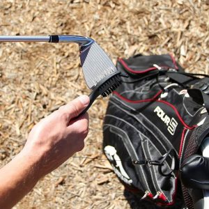 PGA Deluxe Dual Sided Golf Club Brush and Groove Cleaner Golf Bag