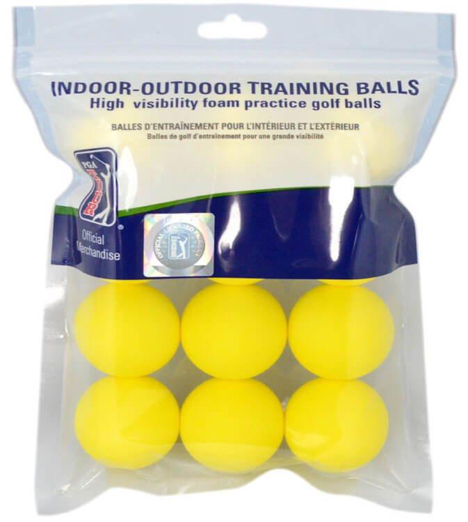 PGA TOUR Training Golf Balls Yellow
