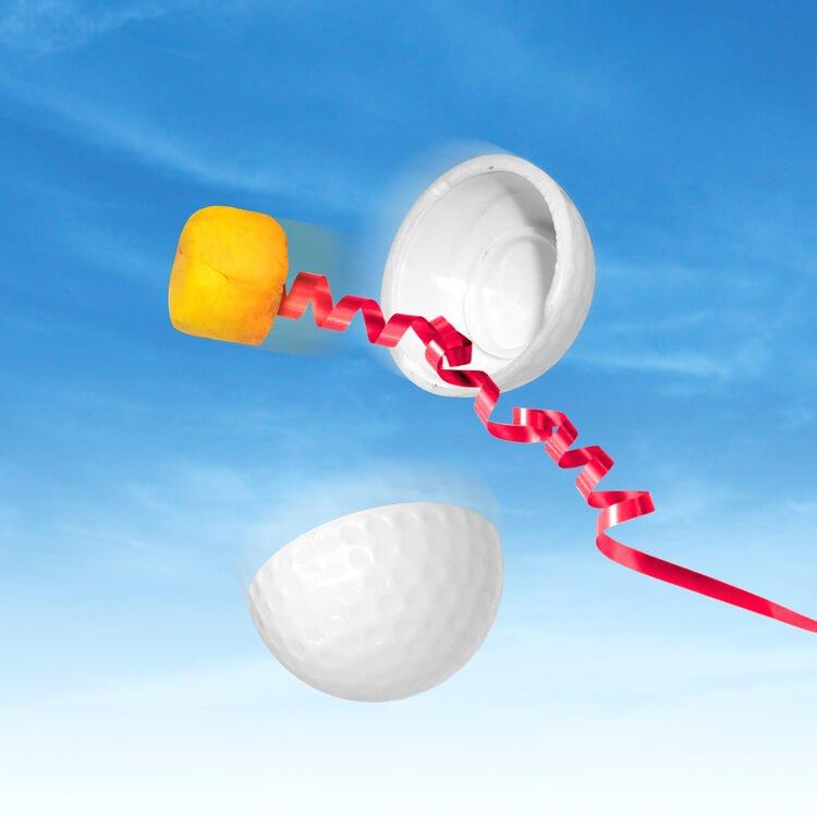 Joke Golf Balls Jet Streamer