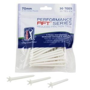 PGA TOUR 70mm Low Friction Tees – Pack of 30