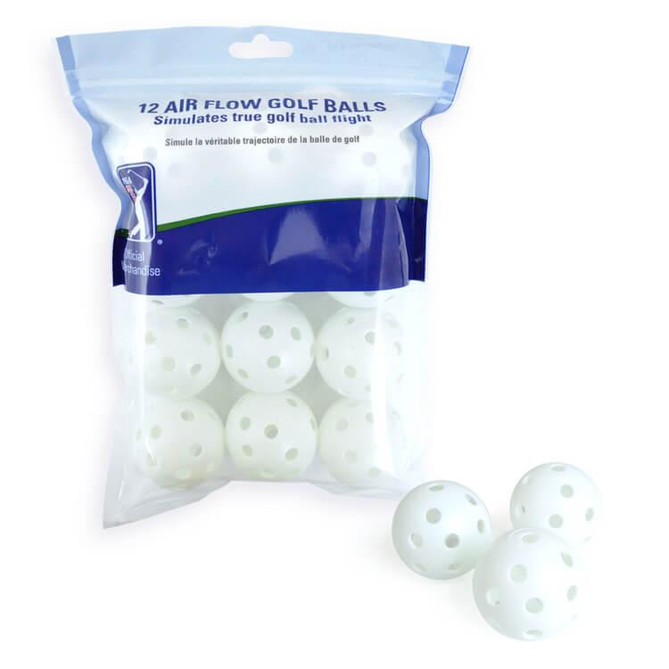 PGA TOUR Air Flow Golf Balls with Balls