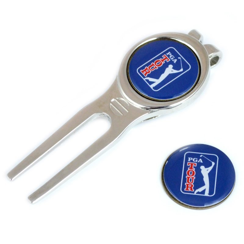 PGA TOUR Leather Scorecard Marker and Pitch Mark Repairer
