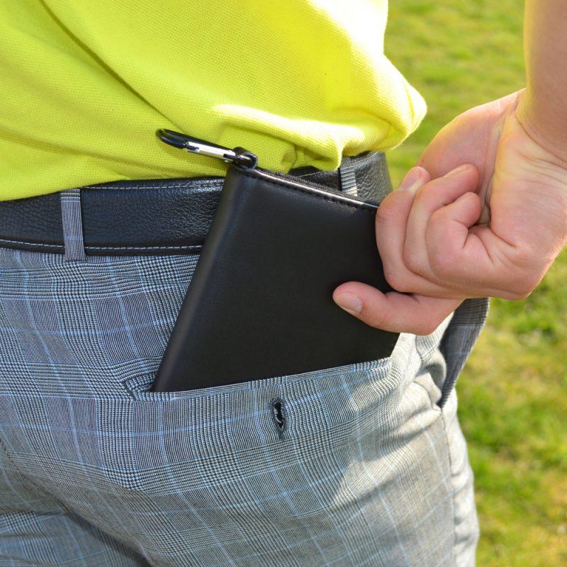 PGA TOUR Leather Scorecard Pocket