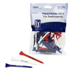 PGA Tour 100 5.5cm Wooden Golf Tees