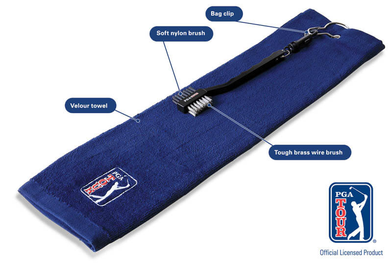 PGA Tour Golf Towel and Brush Set Specifications