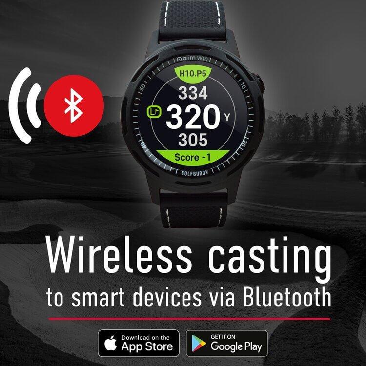 GOLFBUDDY aim W10 Bluetooth Casting