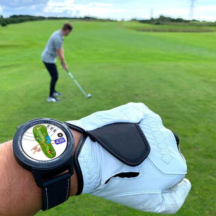 GOLFBUDDY aim W10 Wrist Golf Course