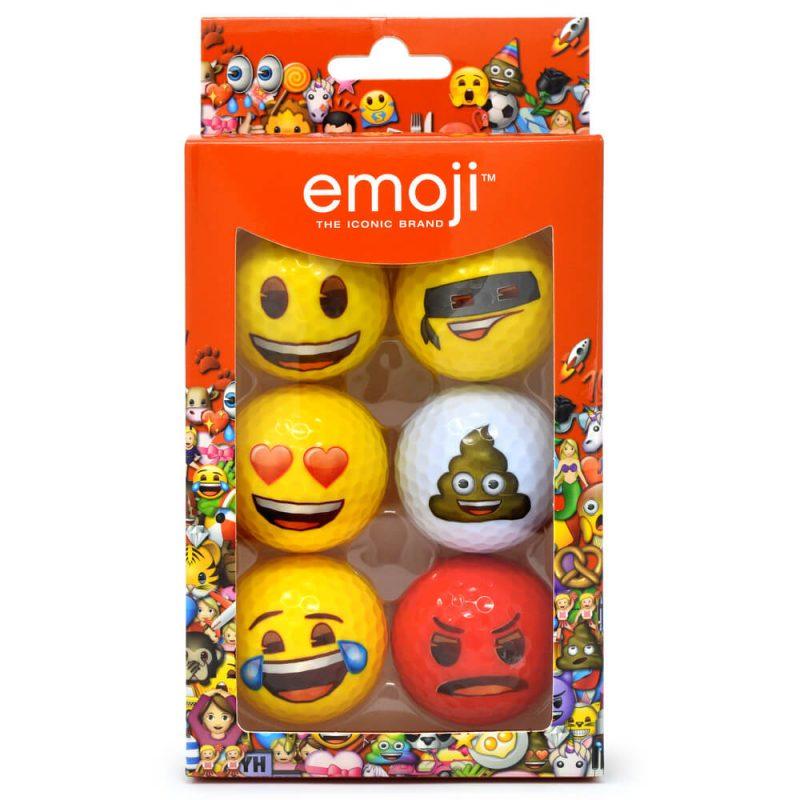 Emoji Novelty Golf Balls (Pack of 6)
