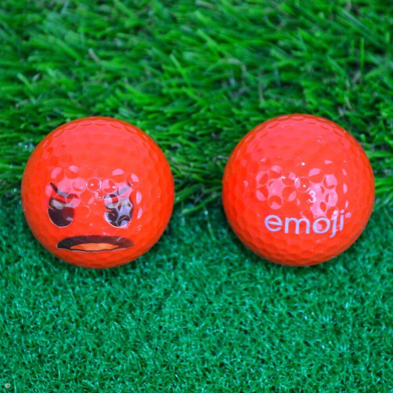 Emoji Novelty Golf Balls (Pack of 6) Angry