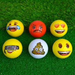Emoji Novelty Golf Balls (Pack of 6) Golf Balls