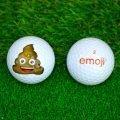 Emoji Novelty Golf Balls (Pack of 6) Poop