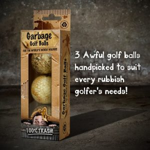 On Par Garbage Golf Balls 3 Pack Awful Golf Balls