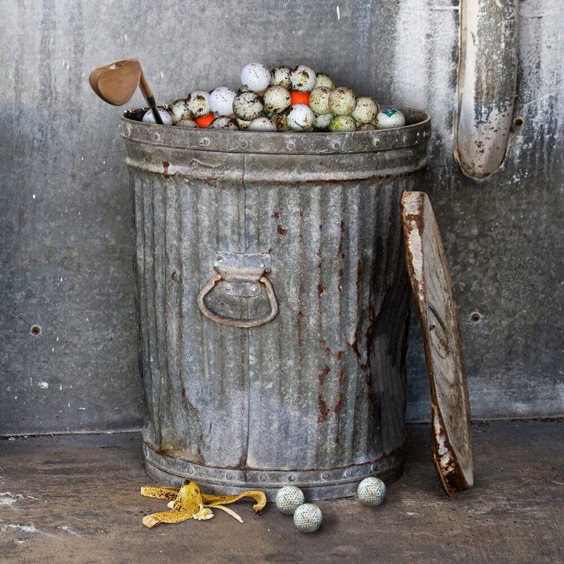 On Par Garbage Golf Balls 3 Pack in the Trash