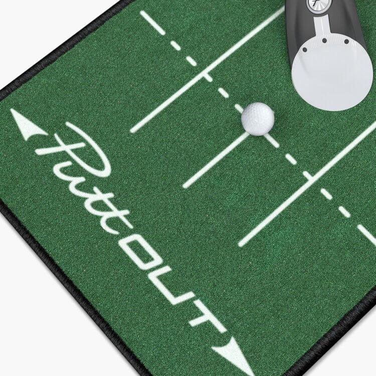 PuttOUT Medium Pro Putting Mat Green Close Up