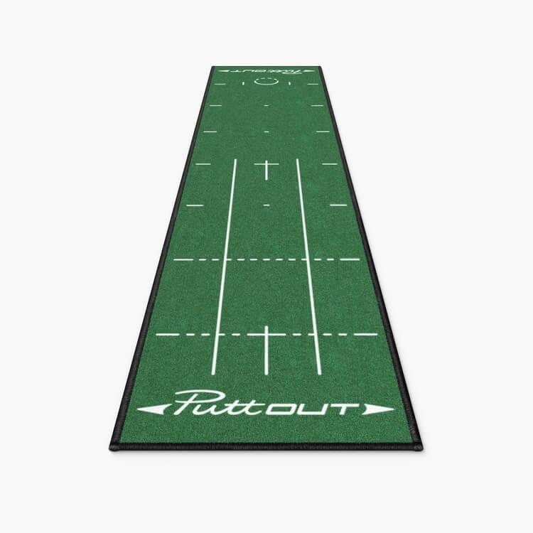 PuttOUT Medium Pro Putting Mat Green Front