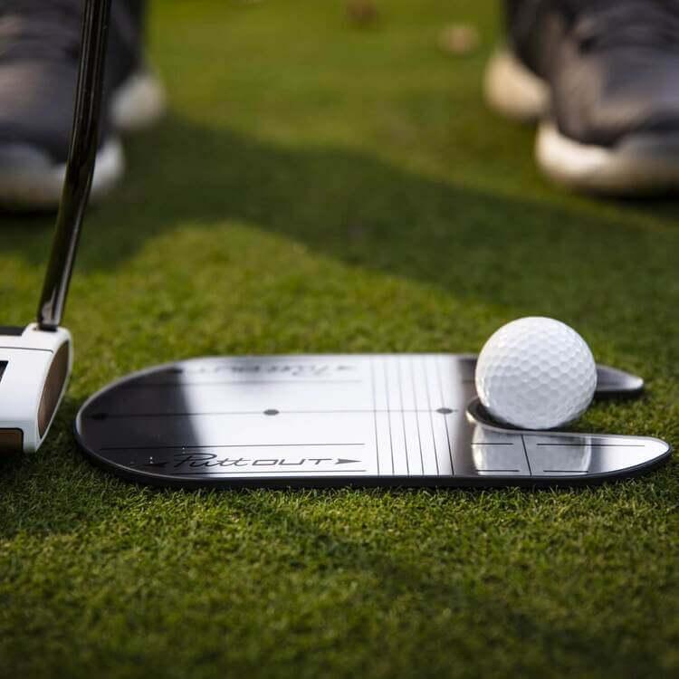 PuttOUT Compact Mirror Side Golfer Grass