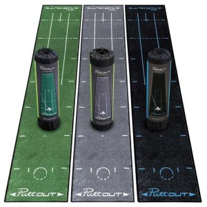 PuttOUT Mat Green, Grey, & Black