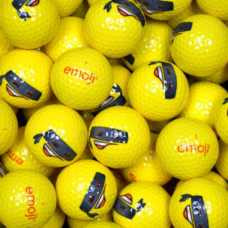 Emoji Bandit Golf Balls