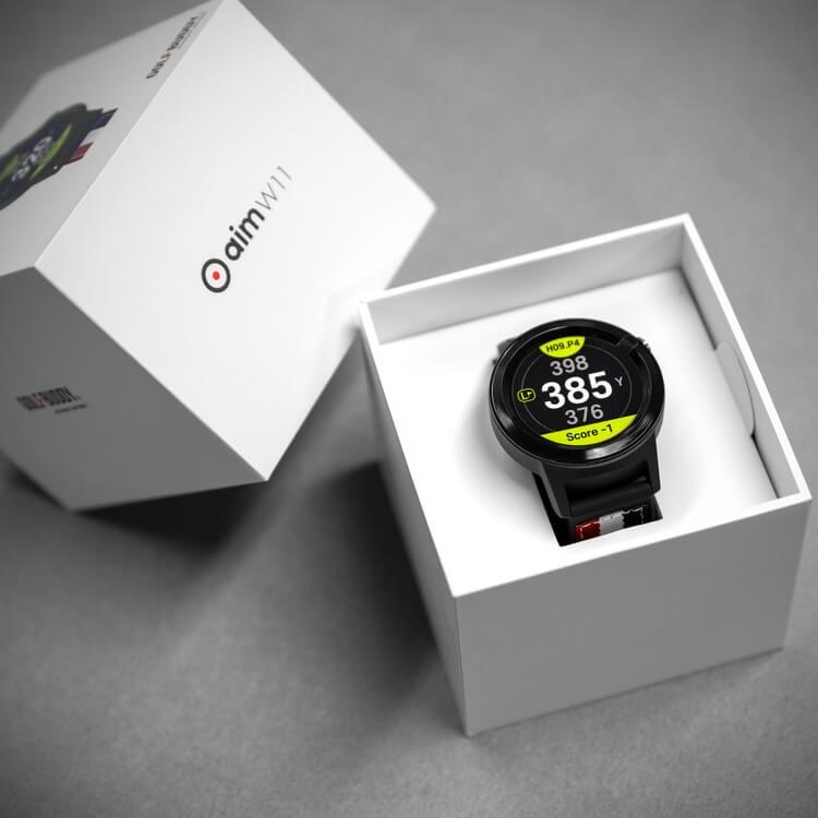 GOLFBUDDY aim W11 GPS Watch Packaging