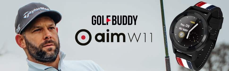 GOLFBUDDY aim W11 Main Banner Thin