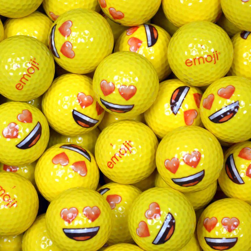 Emoji Heart Eyes Golf Balls